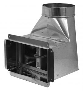 90* Angle Boot with Extension, Fire Damper, and Flange